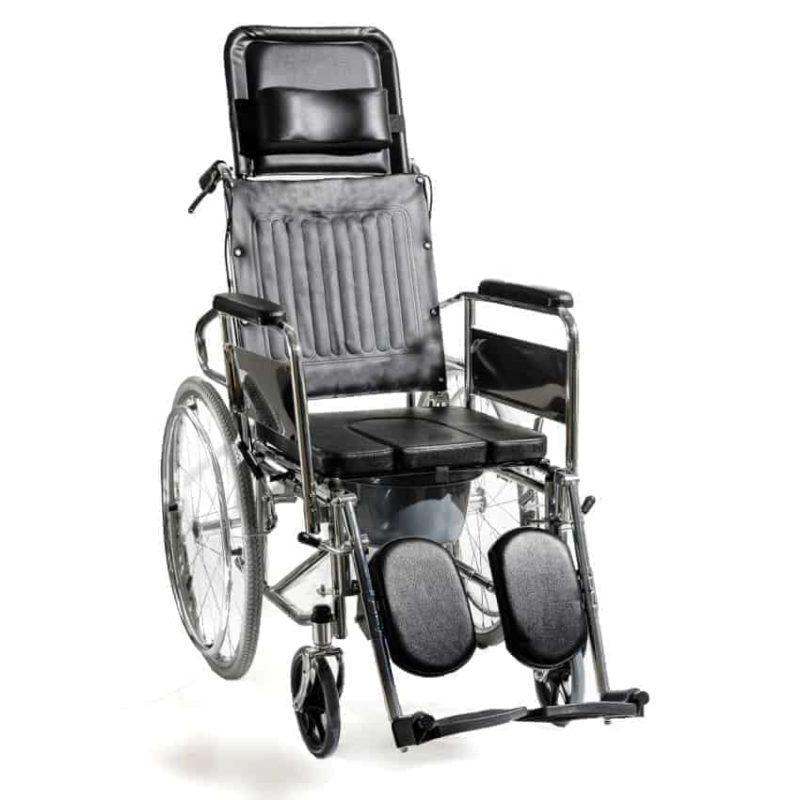 αναπηρικό αμαξίδιο με ανακλινόμενη πλάτη & δοχείο wc ac-49δ