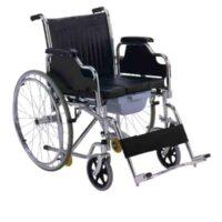 Αναπηρικό Αμαξίδιο Πτυσσόμενο με Δοχείο WC AC-43 Φουσκωτοί Τροχοί
