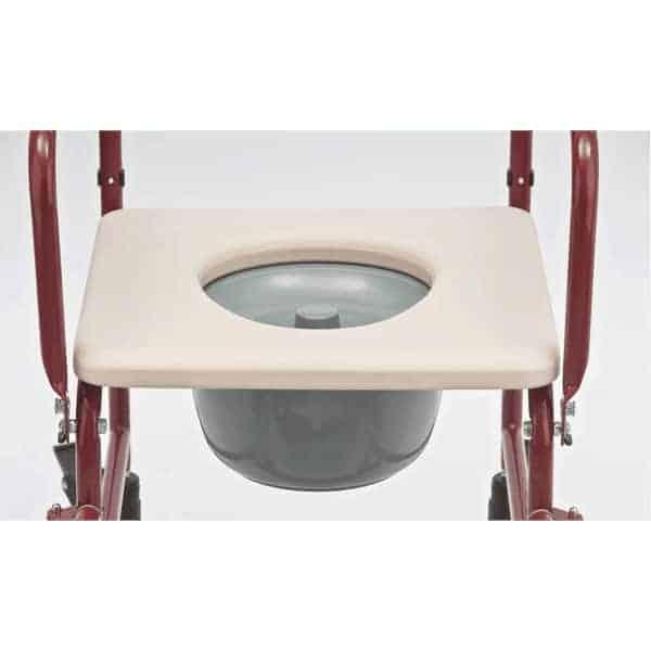 Αναπηρικό Αμαξίδιο Τουαλέτας AC-32 Μπορντώ