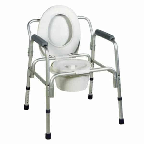 κάθισμα-καρέκλα τουαλέτας αλουμινίου πτυσσόμενο