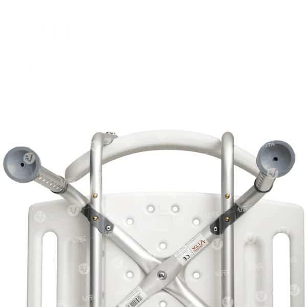 Καρέκλα Μπάνιου Αλουμινίου με Πλάτη