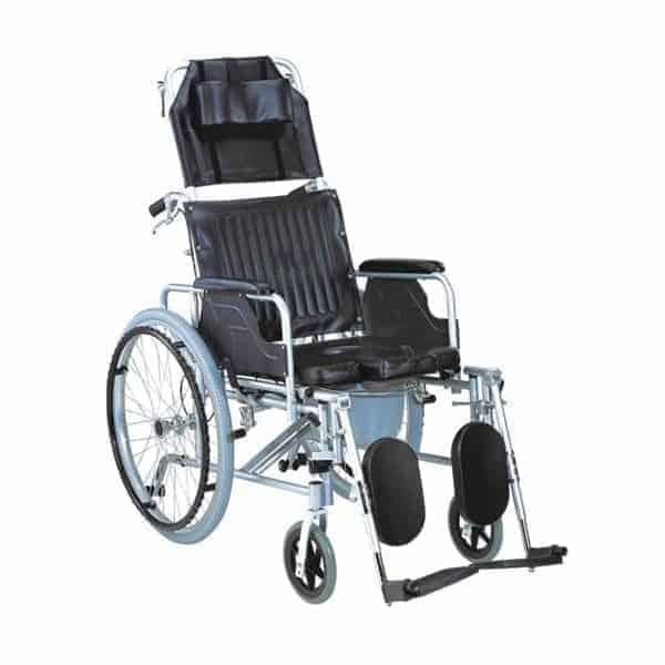αναπηρικό αμαξίδιο με ανακλινόμενη πλάτη & δοχείο ac-59δ
