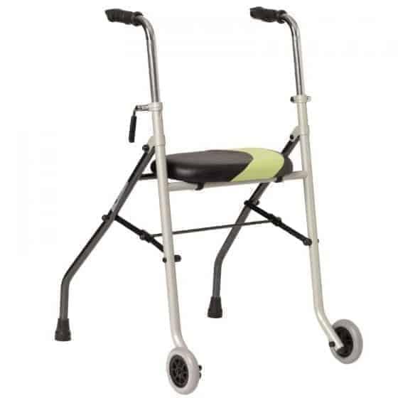περιπατητήρας 2 ρόδες με κάθισμα invacare actio 2