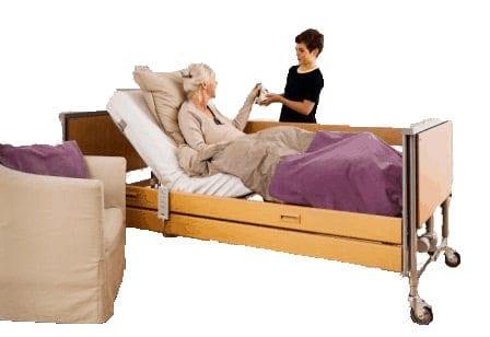 τα ξυλινα ηλεκτρικα κρεβατια accent της invacare είναι κατασκευασμένα με μέταλλο και ξύλο ομοιόμορφα και δείχνουν περισσότερο οικιακό κρεβάτι παρά νοσοκομειακό!