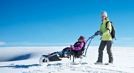 Το Hippocampe μαζί με το kit για ski, μπορεί εύκολα να χρησιμοποιηθεί και στο χίονι!