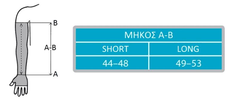 μανίκι λεμφοιδήματος με πλεκτή δαντέλα ccl2/23-32mm hg maxis