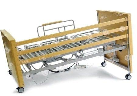 η νοσοκομειακή πολυθρονα κρεβατι v-rotate ειναι πληρως ηλεκτροκινητη, με επένδυση ξύλου οξιάς!
