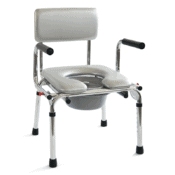 Καρέκλα Μπάνιου Αδιάβροχη με Λεκάνη Ρυθμιζόμενη 09-2-060