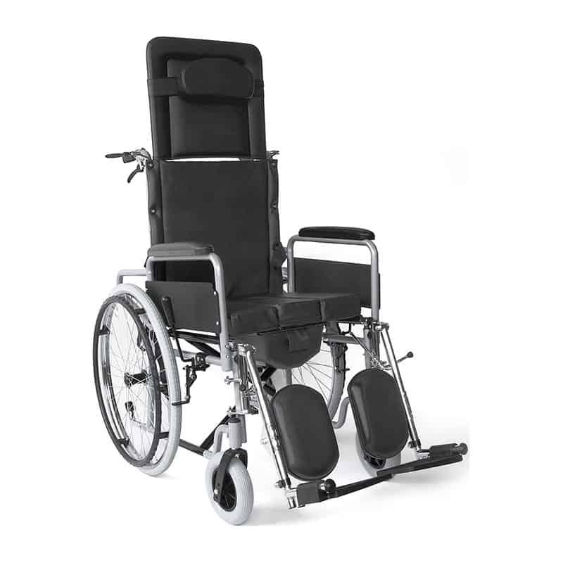 αναπηρικό αμαξίδιο με ανακλινόμενη πλάτη & τουαλέτα 09-2-138