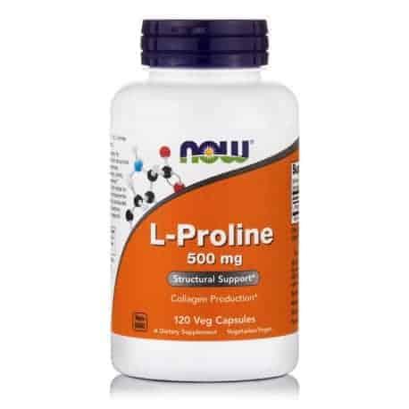 L-Proline 500mg 120 Veg Capsules