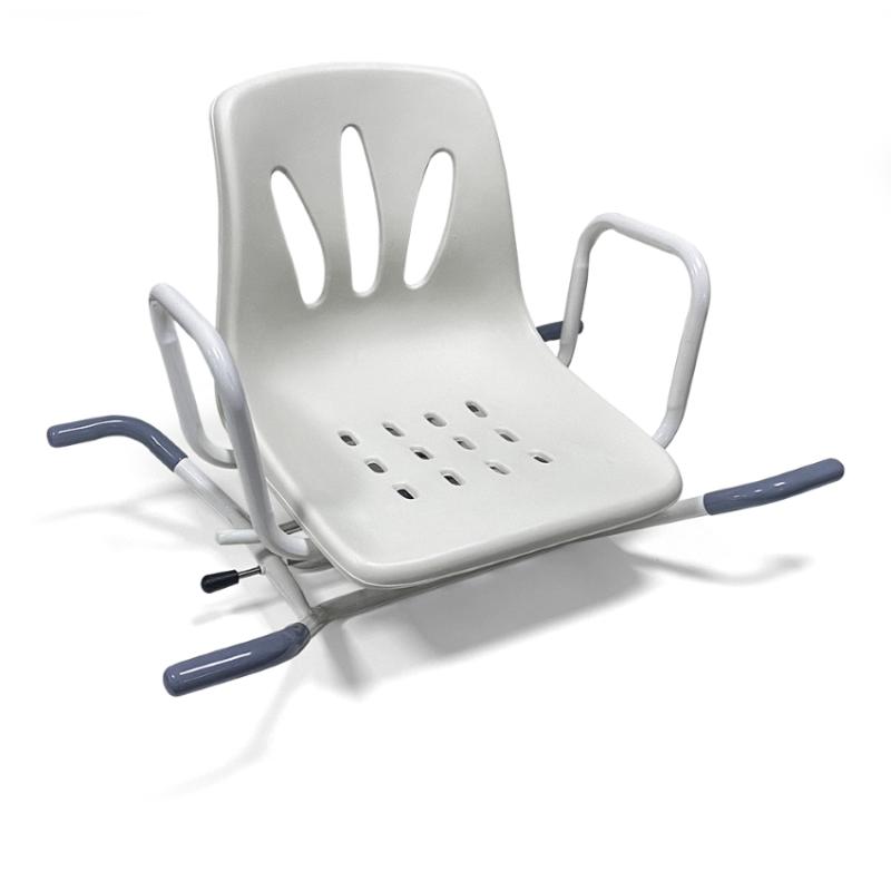 Το Περιστρεφόμενο Κάθισμα Μπανιέρας 09-2-042 προσφέρει άνεση και ασφάλεια στα άτομα με περιορισμένη κινητικότητα.
