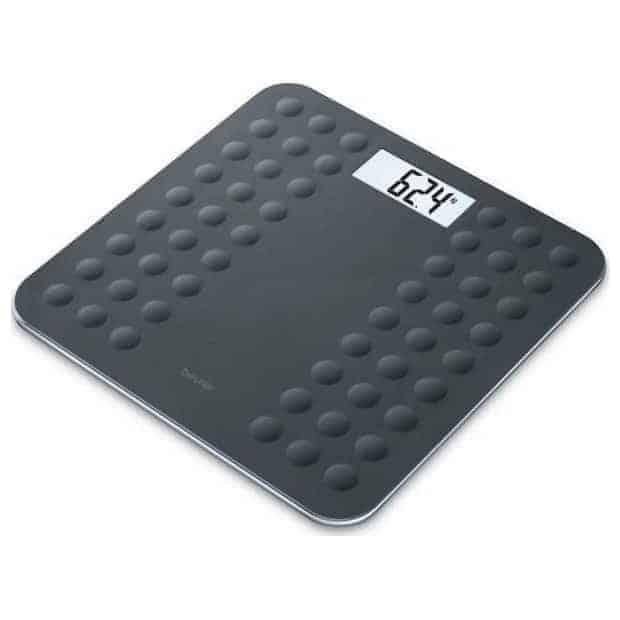 ζυγαριά μπάνιου γυάλινη ψηφιακή beurer gs 300 black