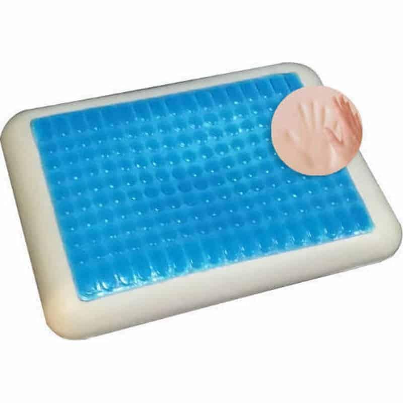 κλασικό μαξιλάρι ύπνου memory foam cool gel μπλε και άσπρο