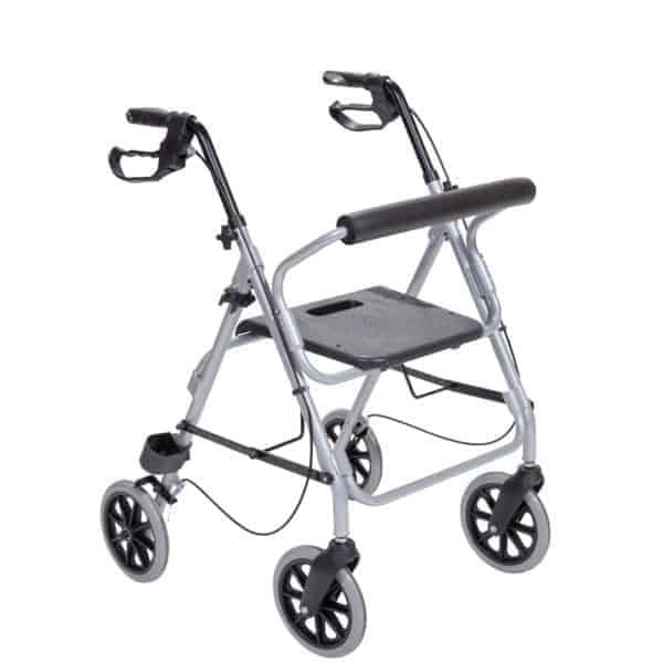 Περιπατητήρας Τροχήλατος-Rollator «Silver» ασημί και μαύρο χρώμα