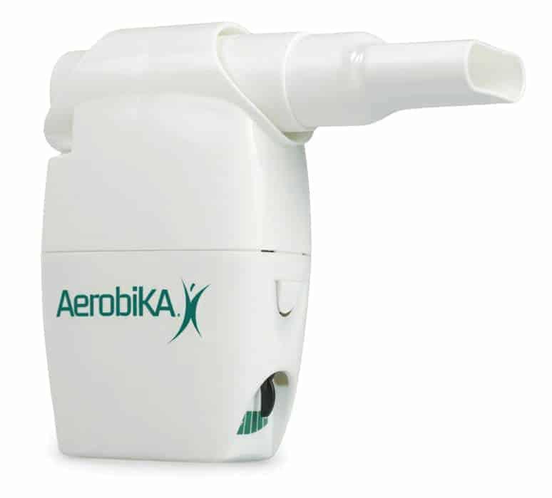 το σύστημα θεραπείας ταλάντωσης pep aerobika θετικής εκπνευστικής πίεσης χρησιμοποιείται ως μία συσκευή θετικής εκπνευστικής πίεσης (pep)