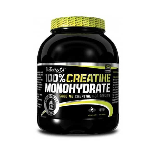Η 100% CREATINE MONOHYDRATE 1000grπαρασκευάζεται με καθαρή μονοϋδρική κρεατίνη σε μορφή σκόνης