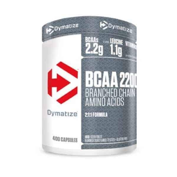 Τα BCAA 2200 400caps DYMATIZE ενδείκνυνται για μετά την προπόνηση και ενώ ο μεταβολισμός παραμένει σε υψηλά επίπεδα
