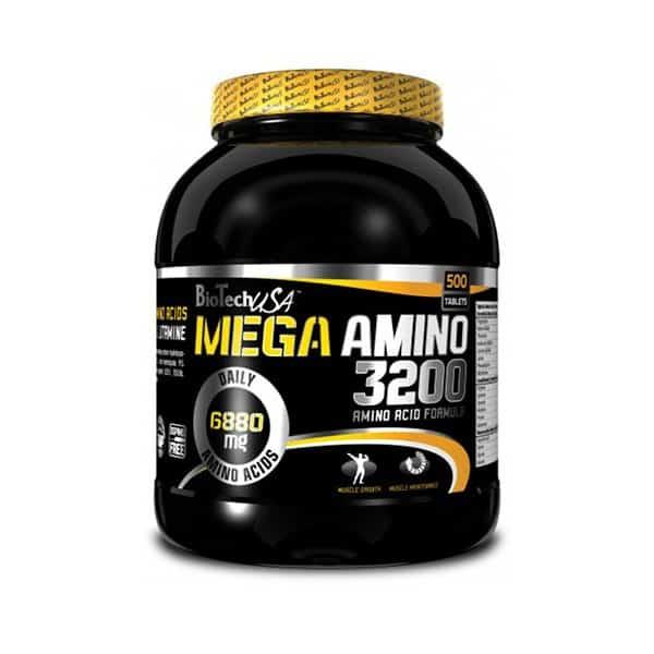 Tα MEGA AMINO 3200 500tabs BIOTECH USAπροσφέρουν υψηλής ποιότητας αμινοξέα για γρήγορη μυική αποκατάσταση!