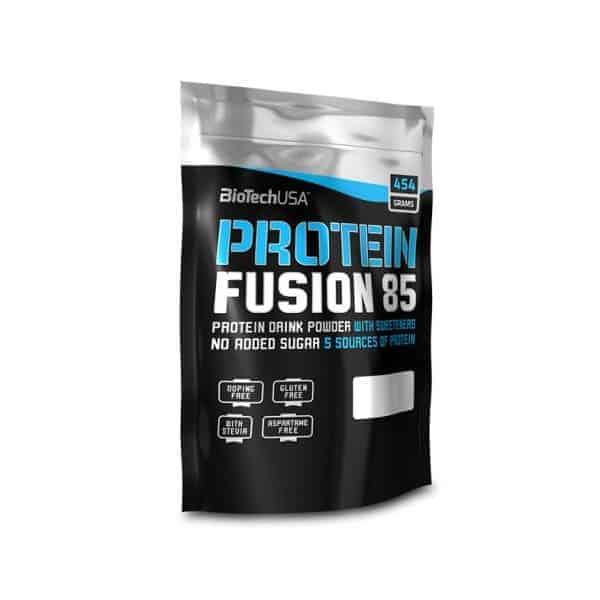Η PROTEIN FUSION 85 454gr είναι ένα προϊόν πλούσιο σε πρωτεΐνη, χωρίς γλουτένη