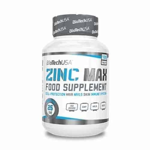 Το ZINC MAX 100 tabs BIOTECH USA όπου εμπεριέχει ψευδάργυρο εμπλέκεται στο μεταβολισμό του υδατάνθρακα και των οξέων.