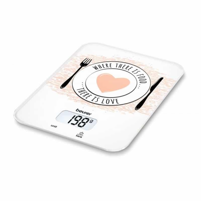 Η Ζυγαριά κουζίνας KS-19 Love διαθέτει ένδειξη υπερφόρτωσης και ανώτατο όριο ζύγισης 5 κιλά με διαβάθμιση ανά 1 γρ.