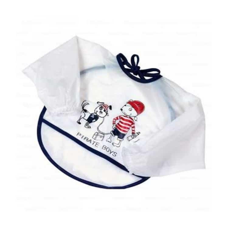Η Fashy Little Stars Σαλιάρα με μανίκια 17018 50 είναι ιδανική για παιδιά που προσπαθούν να φάνε μόνα τους.