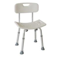 Η Καρέκλα Μπάνιου Με Πλάτη AC–382 είναι κατασκευασμένη από αλουμίνιο και διαθέτει αντιολισθιτικά υποπόδια